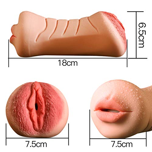 Male Skin-Friendly Soft Tight MàStùRabàTion Cup Lifelike Pocket P&Ussy Waterproof Portable FlèSh Underwear Toy for Men