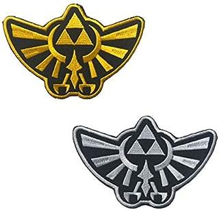 OYSTERBOY 2pcs Legend of Zelda Hyrule's Royal Crest Logo Gold& SILVERTactical Patch Hook & Loop