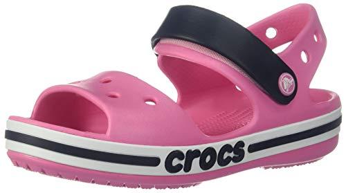 Crocs Kids' Boys and Girls Bayaband Sandal, Pink Lemonade 10 M US Toddler