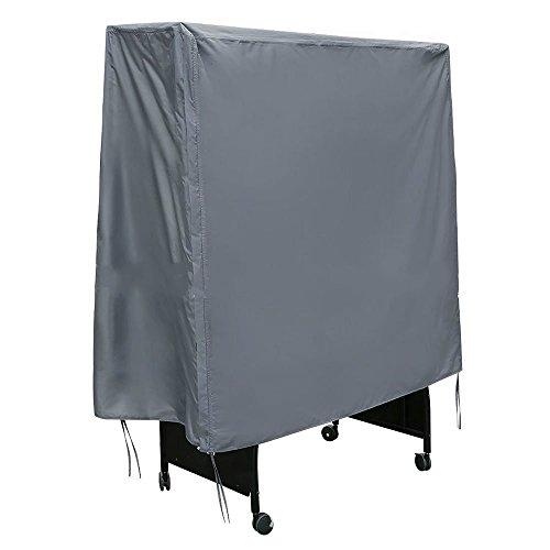 Mitefu Housse Table de Tennis de Table, Housse de Protection pour Table de Ping Pong Étanche et Anti-poussière(W155cm x D75cm x H175cm),Gris