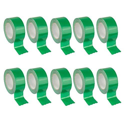 10x Stabilo Klebeband grün, Dampfbremse, Dampfsperre, einseitig selbstklebend, gitterverstärkt, OSB, 10 Rollen a 60mm x 25m