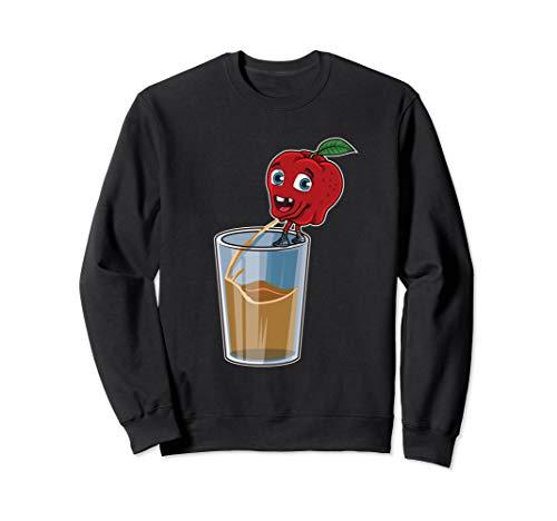 Apfel pinkelt in ein Glas   Frischer Apfelsaft Sweatshirt