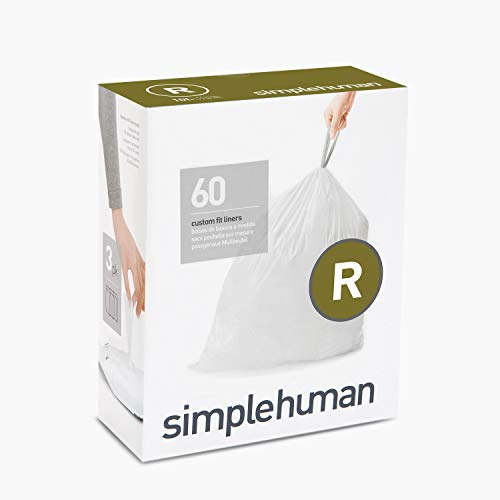 Price comparison product image simplehuman Custom Fit Drawstring Trash Bags,  60 Pack,  White,  60 Pack