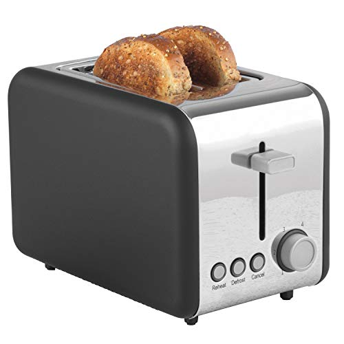 Salter Opulence 2-Slice Toaster | Wide Slots | Defrost, Reheat and Cancel Functions | Built-in Cord Storage | 850 W |