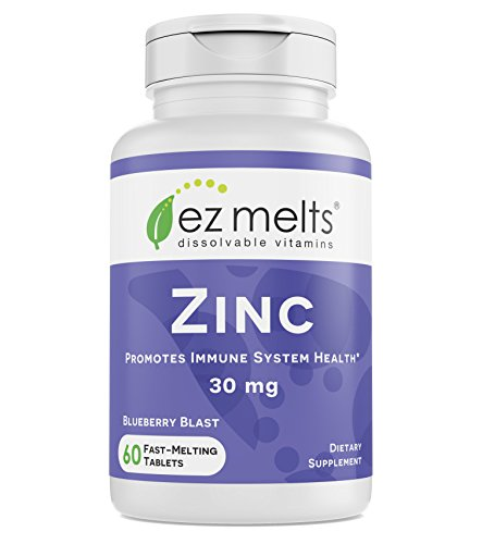 EZ Melts Zinc for Immune Support, 30 mg, Sublingual Vitamins, Vegan,...