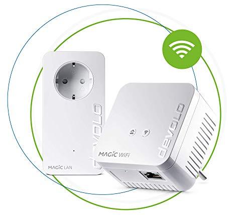 Devolo Magic 1 WiFi Mini Starter Kit (1x Magic 1 WiFi Mini, 1x Magic 1 LAN), Ethernet, Powerline, 1200 MBps, weiß