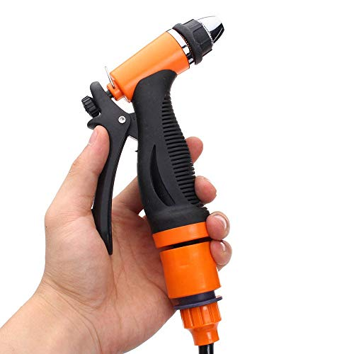 Susulv Hochdruckreiniger 75W Hochdruck Selbstansaugend Elektroauto Tragbare Wash Waschmaschine Kit Wasserpumpe (Farbe : Orange, Größe : Einheitsgröße)