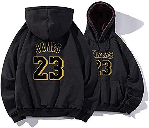 NBA Sudadera con capucha de Los Angeles Lakers, n.º 23, sudadera de peluche, manga larga, suéter de baloncesto, Lebron James (color: A, talla: M) – Unisex (color: A, talla: XXL)