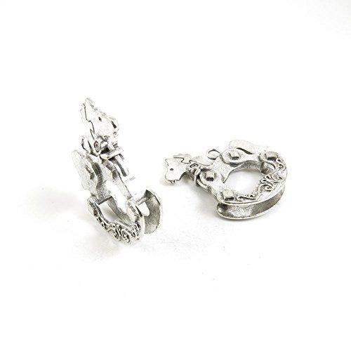 Schmuckanhänger R5WB8J Schaukelpferd, Antik-Silber silberfarben antik-optik