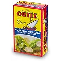 Huevas de merluza en aceite de oliva 110g Ortiz