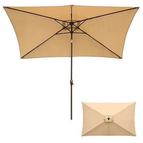 XDD Terrasse Parasol de Jardin Terrasse Parasol Extérieur, Parasol Inclinable Rectangulaire, Parapluie de Balcon de Loisirs Étanche À La Pluie, Crème Solaire (Taille 2x3Mx2.4M / 6.56x9.8x7.87FT)