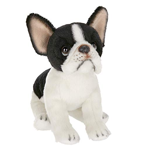 Bearington Lil' Oliver Small Plush French Bulldog Stuffed Animal, 6 Inch