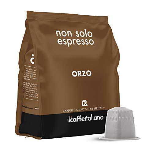 FRHOME - 50 Capsule Orzo - Compatibili con Macchine da caffè Nespresso Il Caffè Italiano