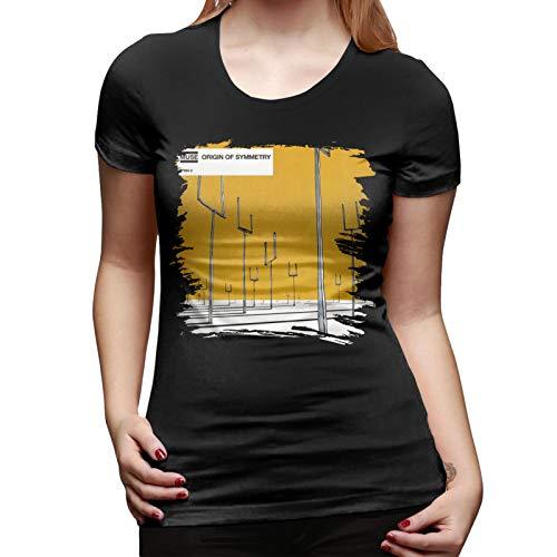 Muse Origin of Symmetry T-Shirt Popular Round Neck Short Women's Sleeve Medium Black