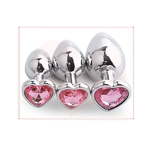 Juguete De Acero Inoxidable Con Forma De Corazón De 3 Piezas, Pero, Herramienta Para Mujer Sorpresa (rosa)