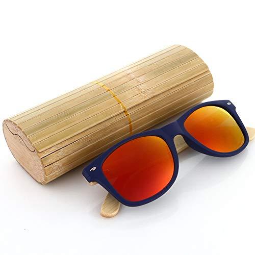 Nuovo 100% Occhiali da Sole in Vero Legno di Zebra Occhiali da Sole da Uomo in bambù Fatti A Mano Polarizzati Occhiali da Sole da Uomo Gafas Oculos De sol Madera (Lenses Color : 1)