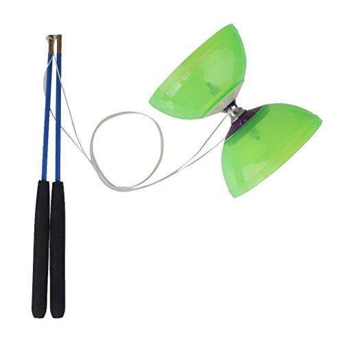 Sharplace 5-Lager Diabolo Mit Handstäbe und String Jonglieren Spielzeug Geschicklichkeit für Profis und Anfänger - Grün - Grün