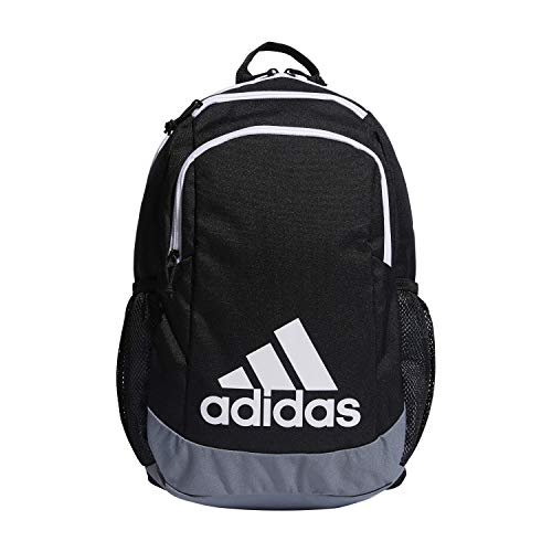 adidas Youth Kids-Boy's/Girl's Young Creator Backpack, Black/Grey/White, 0