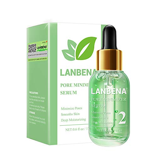 Pore Minimizer, LANBENA Pore Minimizer Serum Blackhead Pore Mninimizing Blackhead Pore Tightening Serum Shrink Pores Blackhead Pore Refining Serum Moisturizing and Smooth Skin (17ML)