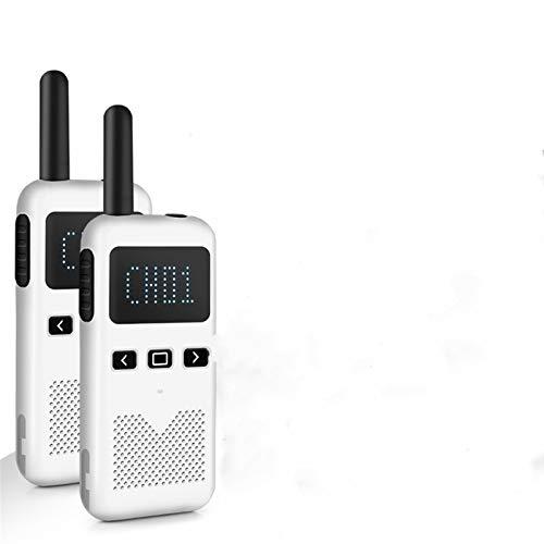 AMZSELLER Walkie Talkie 2 unids walkie Talkie kilómetro Civil de Alta Potencia portátil al Aire Libre Mini radiokie walkie (Color : 2PCS White)