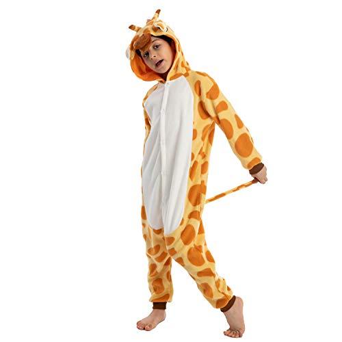 Spooktacular Creations Unisex Child Pajama Plush Onesie One Piece Giraffe Animal Costume (Medium) Yellow
