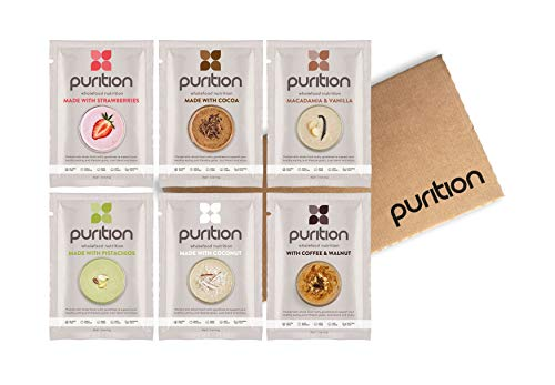 Purition Original Trial Box | Premium High Protein Powder for Keto Shakes and Smoothies with Only Natural Ingredients for Weight Loss | 6 x 40g sachets