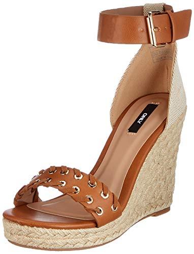 ONLY Onlamelia-11 Wrap Eyelet Heeled Sandal, Sandalia con taln Mujer