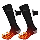 QiMH Electric Heated Socks, Rechargeable Battery Powered Comfortable Socks - Winter Socks Sport Outdoor - Climbing Hiking Skiing Camping Foot Boot Heater Warmer for Men Women