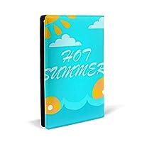 PUレザーブックカバーホットサマー01学校の本のハードカバー、洗えると再利用可能な教科書の標準8.7 X 5.8インチ、2