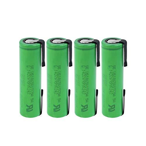 hsvgjsfa Batería De Litio De 35A US18650VTC5A 2600mah, BateríAs Recargables, Batería De Hoja De níQuel De Soldadura para Banco De Energía 4PCS