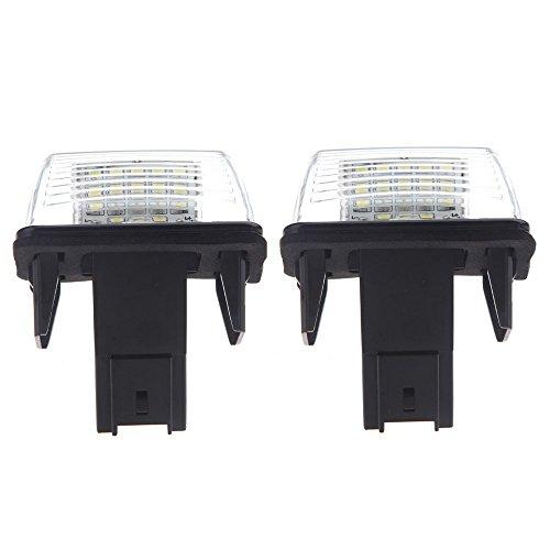 KKmoon LED Luz de Matrícula 18SMD Lampara de Placa Reemplazo para P-eugeot 206 207 306 307 406 407 /C itroen C3 C3 Ii C3