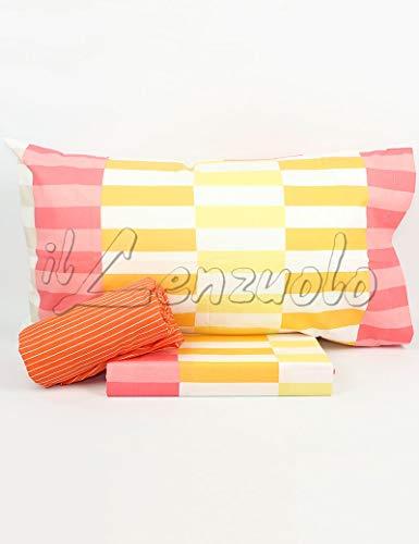 Lenzuola matrimoniali completo Bassetti Dream DIXI in cotone variante Multicolor