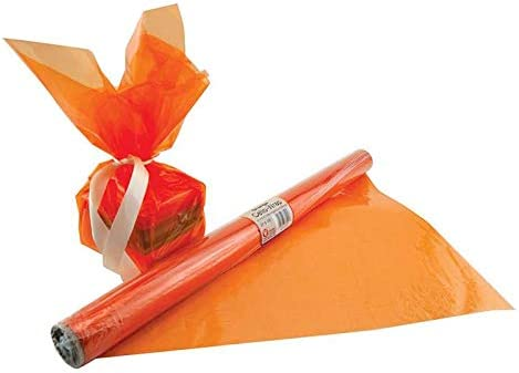 Max 63% OFF HYGLOSS Products INC. 6 RL Cello WRAP 100% quality warranty! ROLL Orange