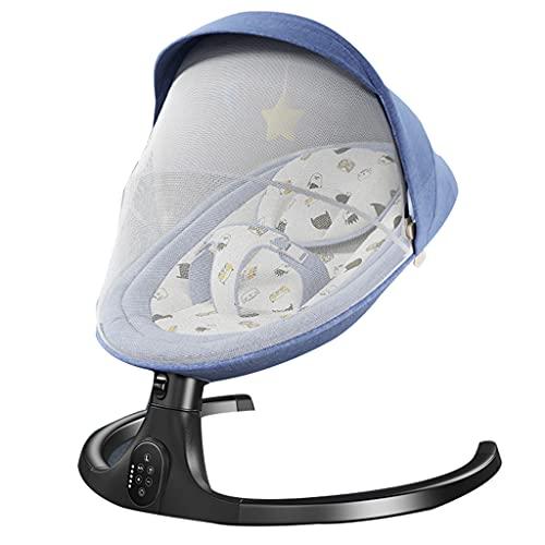 Elektrischer Babyschaukelstuhl zum Entlocken von Babyartefakt Babyschaukelstuhl Babyliegekomfortstuhl Neugeborenenschaukelbett mit abnehmbarem Sonnenschirm Moskitonetz, geeignet für Kinder von 0-3