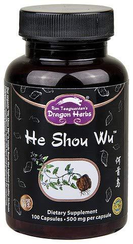Dragon Herbs He Shou Wu -- 500 mg - 100 Capsules - Dietary Supplement - 100% All Natural