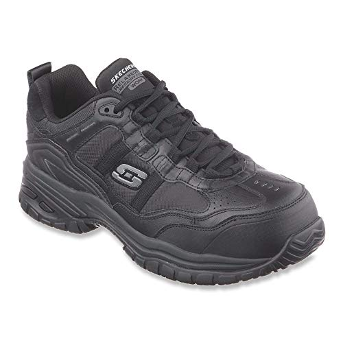 Skechers Men's Work Relaxed Fit Soft Stride Grinnel Comp, Black - 12 4E US