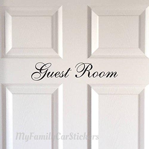 CELYCASY Tür-Aufkleber für Gäste-Zimmer, Vinyl, Gäste-Zimmer