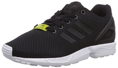 adidas Unisex-Kinder ZX Flux Low-Top, Schwarz (Black/Black/Ftwr White), 39 1/3 EU