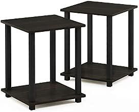 Furinno Simplistic End Table, Espresso/Black
