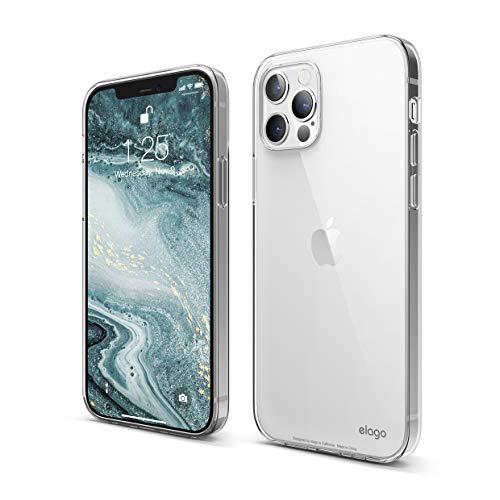 elago Clear Transparente Funda Compatible con iPhone 12 y Compatible con iPhone 12 Pro Case (6.1'), Cover Cristal Clear Suave TPU, Protección Pantalla & Cámara, Protectora Anti-Choques (Transparente)