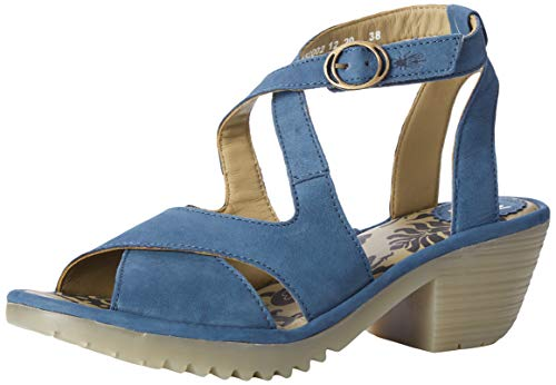 FLY London Wafe152fly, Sandalias de Punta Descubierta Mujer, Azul (Blue 002), 42 EU