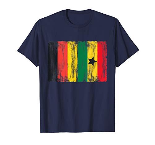 Deutschland und Ghana Flaggen Fahnen T-Shirt