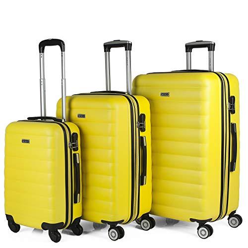 ITACA Simoa kofferset, 3-delige kofferset met harde schalen