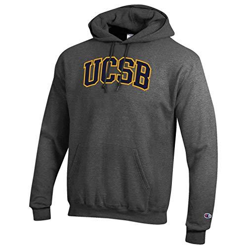 Champion Adult NCAA Mascot Fleece Hooded Sweatshirt (UCSB Gauchos - Charcoal, Large)
