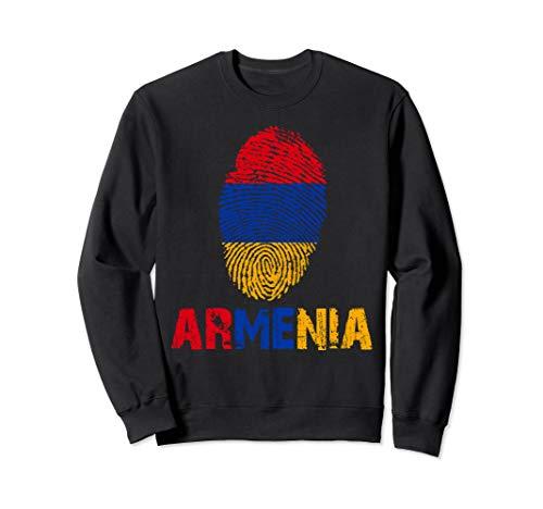 ARMENIA Finger Print Flag Tshirt I Love ARMENIA Travel Tee Sweatshirt