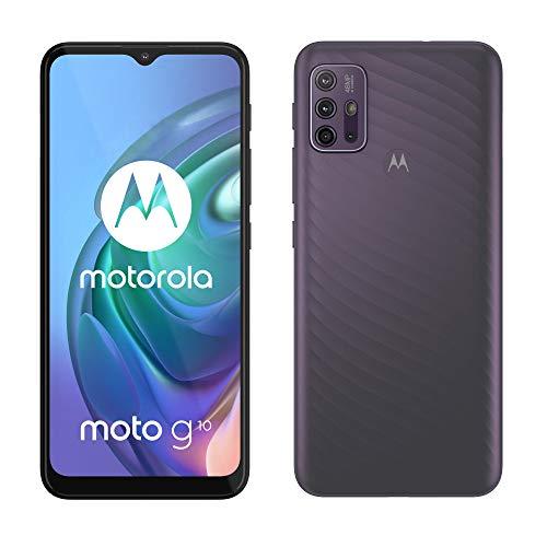 "Motorola moto g 10 (quad camera 48 MP, batteria 5000 mAH, 4/128 GB, Display 6.5"" Max Vision, NFC, Dual SIM, Android 11), Aurora Grey, cover inclusa"