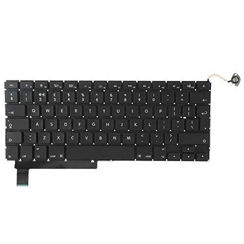 Laptop toetsenbord past voor PRO 15in A1286 2009-2012, professioneel vervangend toetsenbord, UK toetsenbordindeling, eenvoudig te installeren, gevoelig voor aanraking en gemakkelijk te gebruiken
