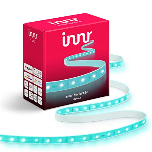 Innr Flex Color, 2m Smart LED Strip, compatible con Philips Hue* & Alexa (Puente Requerido) 2 metros Tira LED RGBW, FL 120C