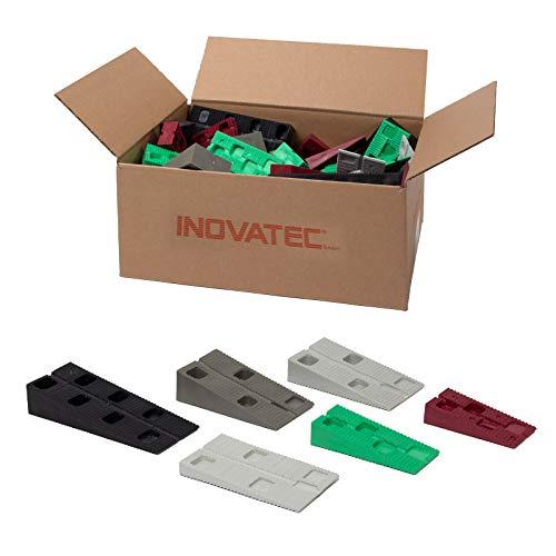 90 x Inovatec Kunststoff Keile, sechs verschiedene Größen 70-120 x 30-45 x 10-25 mm