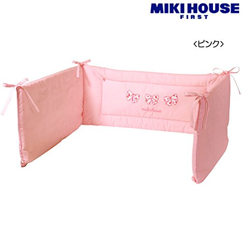 MIKIHOUSE FIRST(ミキハウスファースト)リボン小花柄 ベッドガード(クッション性のあるベッドガード) --...